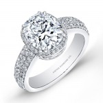 Oval Diamond Engagement Ring in Platinum