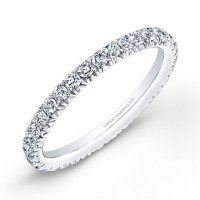 Micropavé Diamond Wedding Band in 18K White Gold