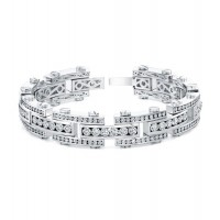 Diamond Bracelet in 18K White Gold