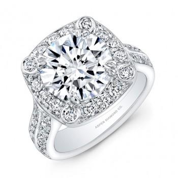 Round Brilliant Diamond Engagement Ring in Platinum